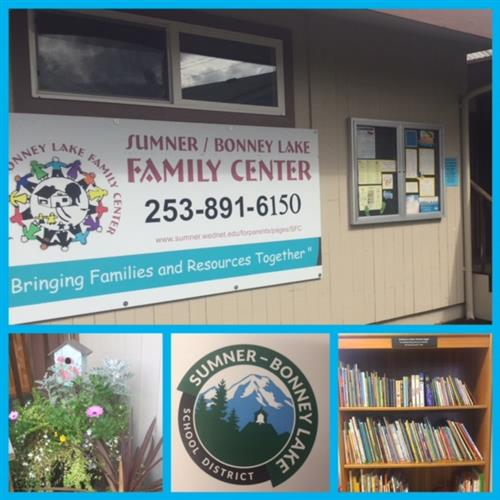 collage of family center photos